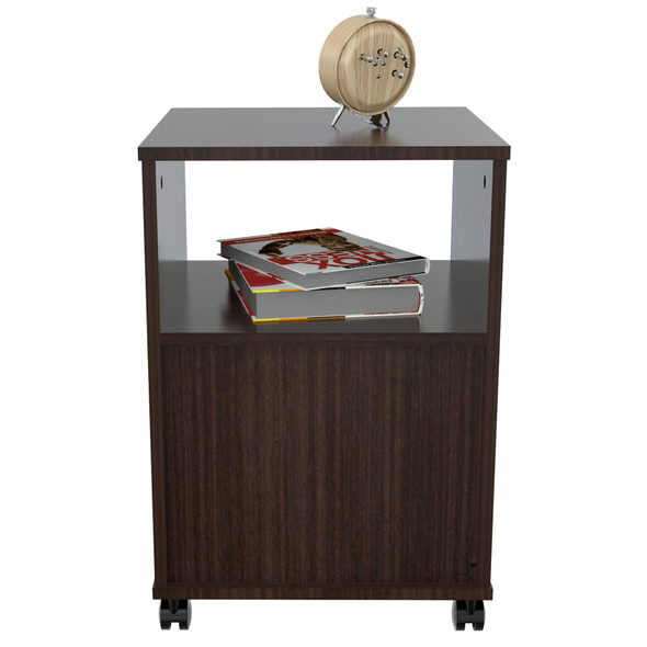 """23"""" Espresso Melamine and Engineered Wood File Cabinet with a Drawer"""