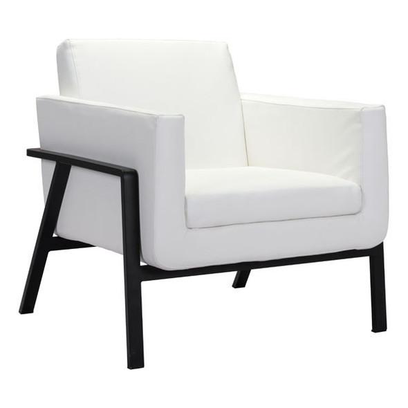 """31.1"""" X 29.7"""" X 32.7"""" White Lounge Chair"""