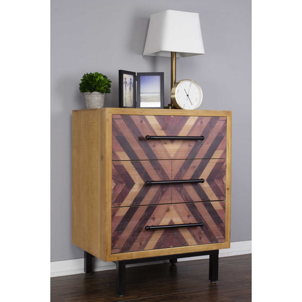 """30"""" x 23.75"""" x 15.75"""" MDF Brown Contemporary Wooden Cabinet"""