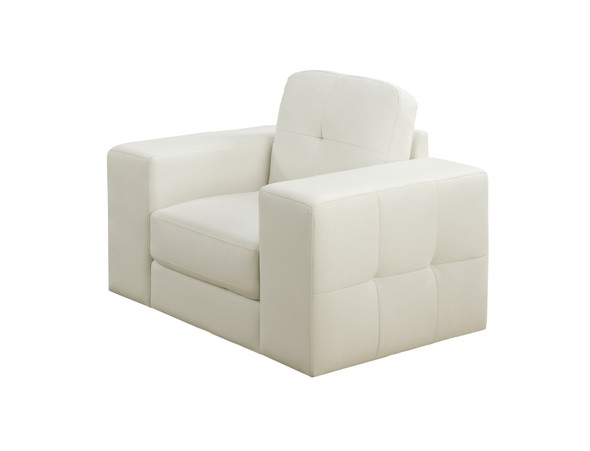"""35"""" x 40"""" x 36"""" Ivory, - Leather Chair"""