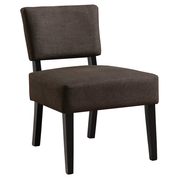 """27.5"""" x 22.75"""" x 31.5"""" Brown, Foam, Solid Wood, Polyester - Accent Chair - 333688"""