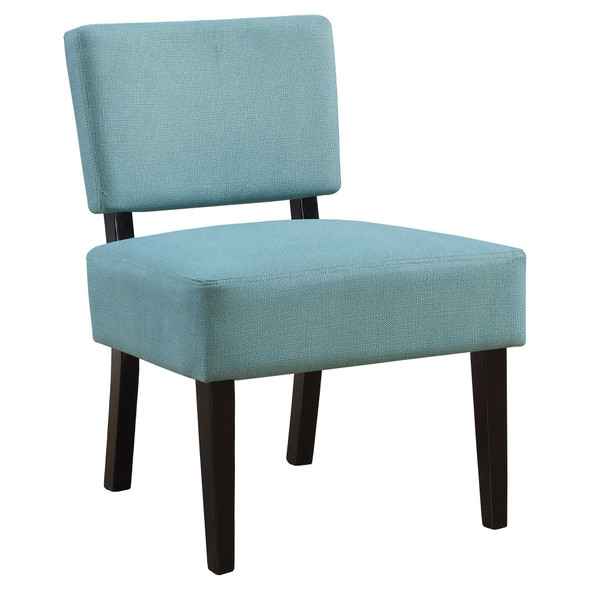 "27.5"" x 22.75"" x 31.5"" Teal, Foam, Solid Wood, Polyester - Accent Chair"