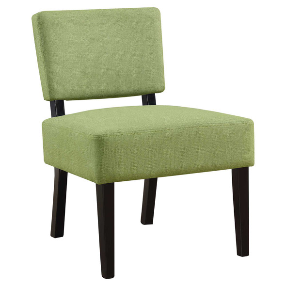 "27.5"" x 22.75"" x 31.5"" Green, Foam, Solid Wood, Polyester - Accent Chair - 333693"