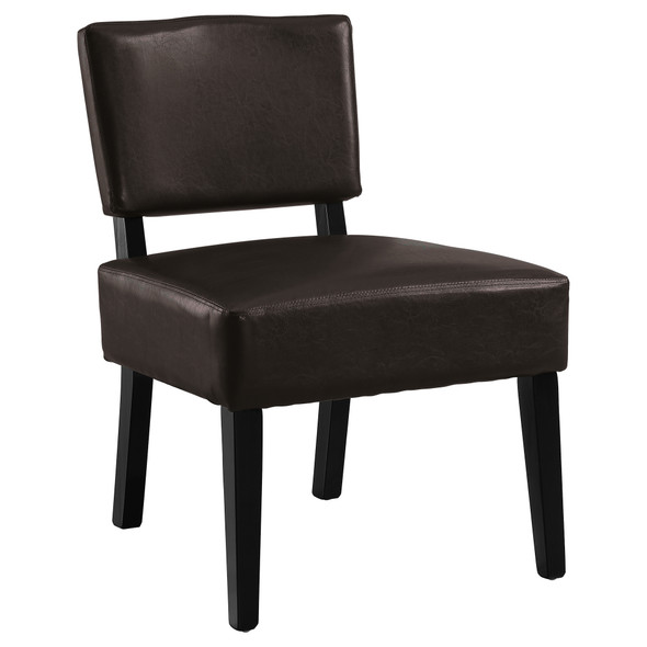 """27.5"""" x 22.75"""" x 31.5"""" Brown, Foam, Solid Wood, Leather-Look - Accent Chair"""