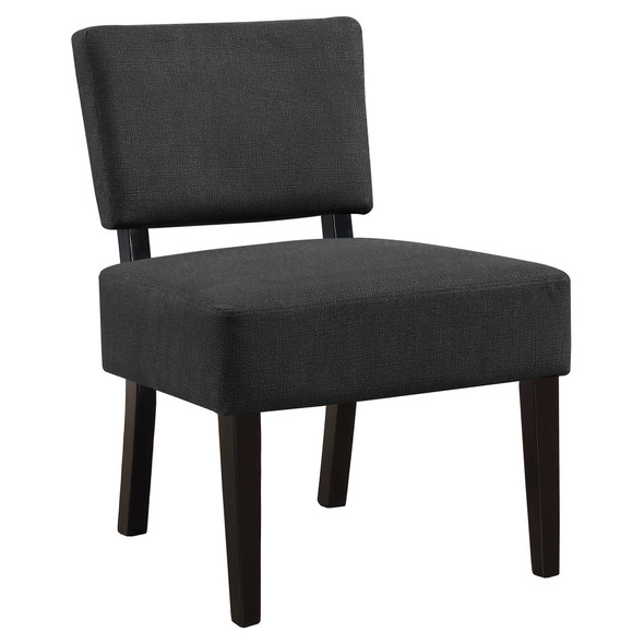 "27.5"" x 22.75"" x 31.5"" Dark Grey, Foam, Solid Wood, Polyester - Accent Chair"