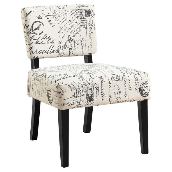 "27.5"" x 22.75"" x 31.5"" Beige, Foam, Solid Wood, Cotton, Linen - Accent Chair"