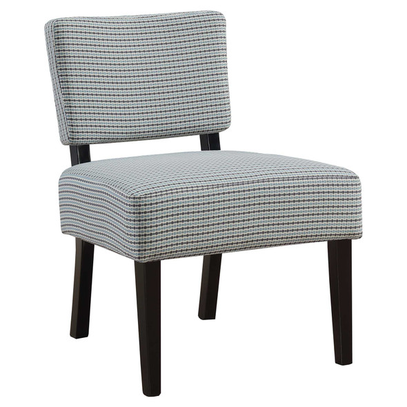 "27.5"" x 22.75"" x 31.5"" Blue, Grey, Foam, Solid Wood, Polyester - Accent Chair"