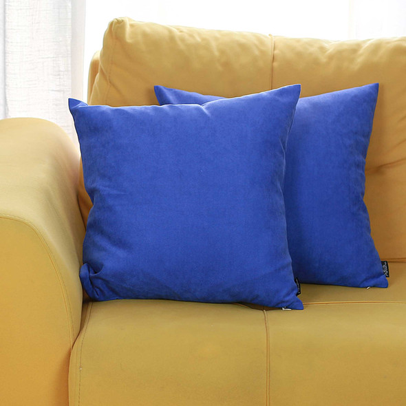 "18""x18"" Sapphire Blue Honey Decorative Throw Pillow Cover 2 pcs in set"