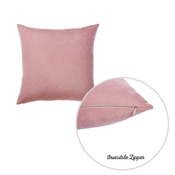 "20""x20""Light Pink Honey Decorative Throw Pillow Cover 2 pcs in set"