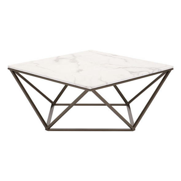 """47.2"""" X 23.6"""" X 17.7"""" White Coffee Table"""