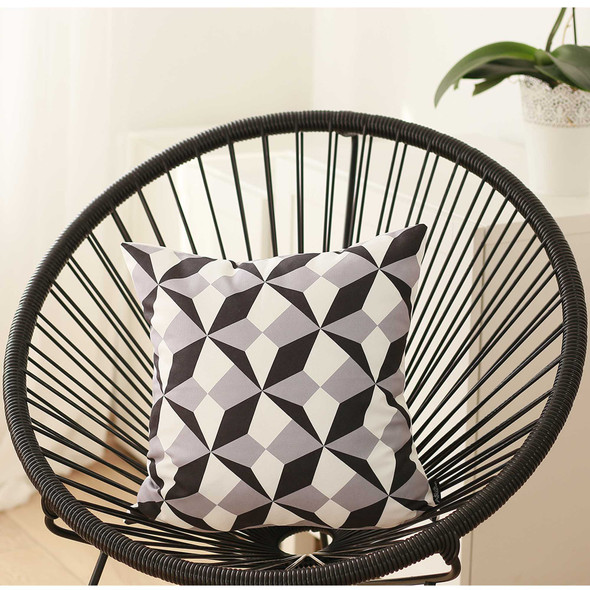 """18""""x18"""" Black and White BW Ilusion Decorative Throw Pillow Cover"""