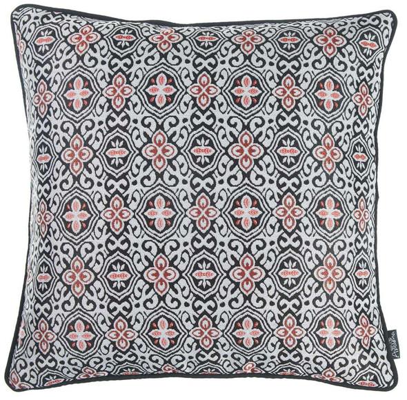 "17""x 17"" Multicolor Jacquard Aristo Decorative Throw Pillow Cover"