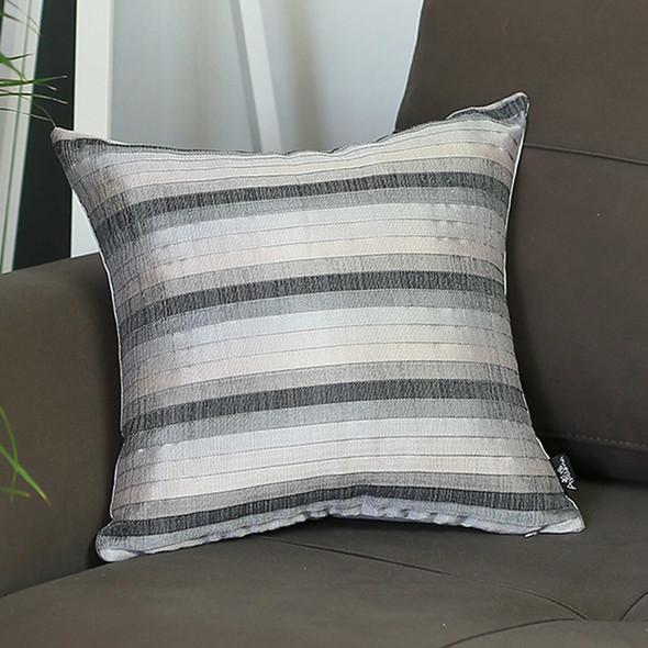"17""x 17"" Jacquard Stripe Decorative Throw Pillow Cover"