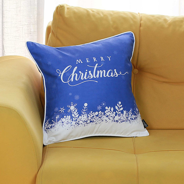 """18""""x18"""" Christmas Snow View Printed Decorative Throw Pillow Cover"""