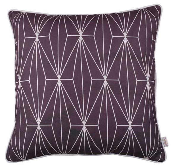 "18""x 18"" Flower Square Shadows Decorative Throw Pillow Cover"