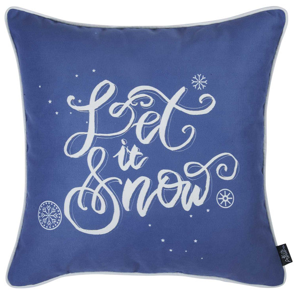 """18""""x18"""" Christmas Quote Printed Decorative Throw Pillow Cover"""