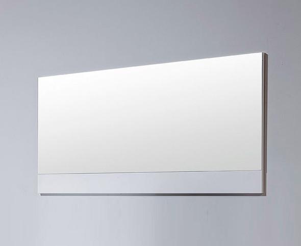 Modern White Bedroom Mirror