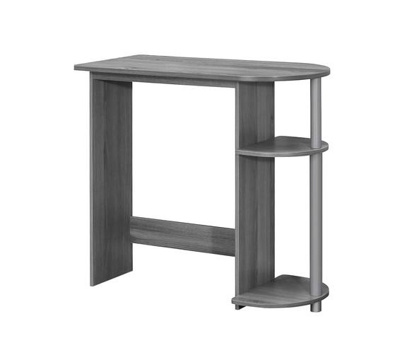"15.5"" x 32"" x 29"" Grey/Silver, Particle Board, Laminate - Computer Desk"