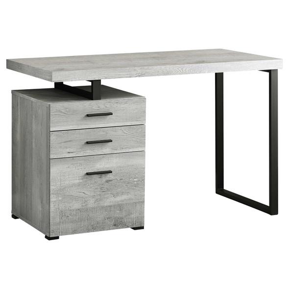 "23.75"" x 47.25"" x 30"" Grey, Black, Particle Board, Hollow-Core, Metal, - Computer Desk"