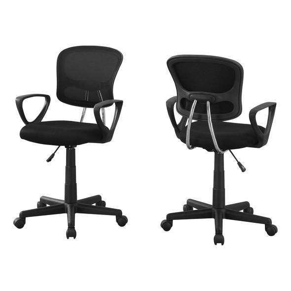"21.5"" x 23"" x 33"" Black, Foam, Metal, Polypropylene, Polyester - Office Chair"