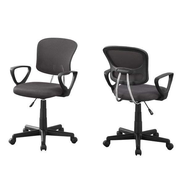 "21.5"" x 23"" x 33"" Grey, Foam, Metal, Polypropylene, Polyester - Office Chair"