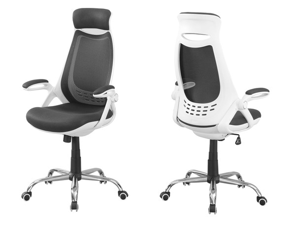"""23.75"""" x 28"""" x 93.75"""" White, Grey, Foam - Office Chair With A High Back"""
