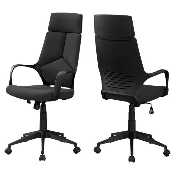 "24.5"" x 25"" x 95.5"" Black, Foam, Metal, Nylon - High Back Office Chair"
