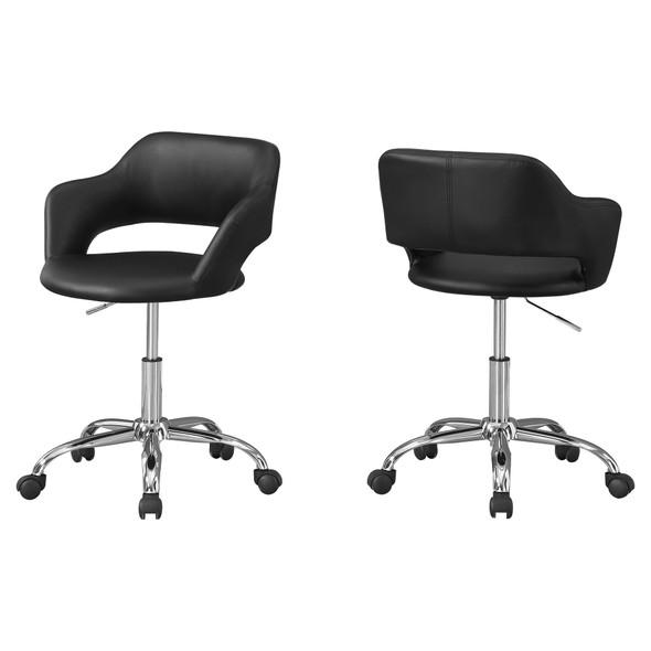 "21"" x 22.5"" x 29"" Black/Chrome, Metal, Hydraulic, Lift Base - Office Chair"