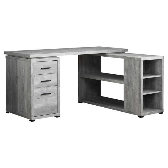 "47.25"" x 60"" x 29"" Grey, Particle Board, Hollow-Core - Computer Desk"
