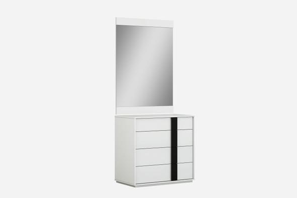 "31"" X 19"" X 31"" White Double Dresser Extension"