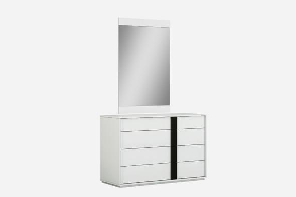 "46"" X 19"" X 31"" White Double Dresser Extension"