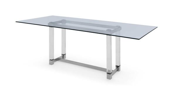 """86.5"""" X 39.5"""" X 30"""" Clear Glass Dining Table"""