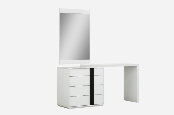 "48"" X 18"" X 33"" White Double Dresser Extension"
