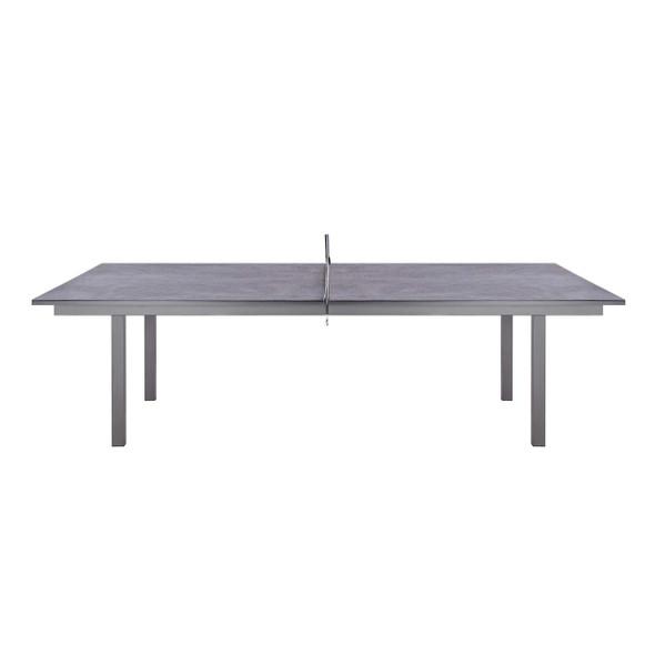 """108"""" X 60"""" X 30"""" Dark Gray Ceramic/Glass Game Table"""