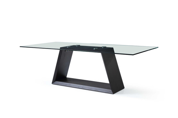 """90"""" X 42"""" X 30"""" Clear Glass Dining Table"""