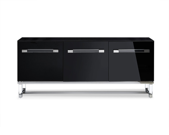 "79"" X 18"" X 34"" Black Stainless Steel Buffet"