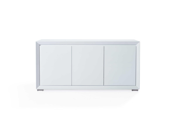 "61"" X 20"" X 30"" White Stainless Steel Buffet"