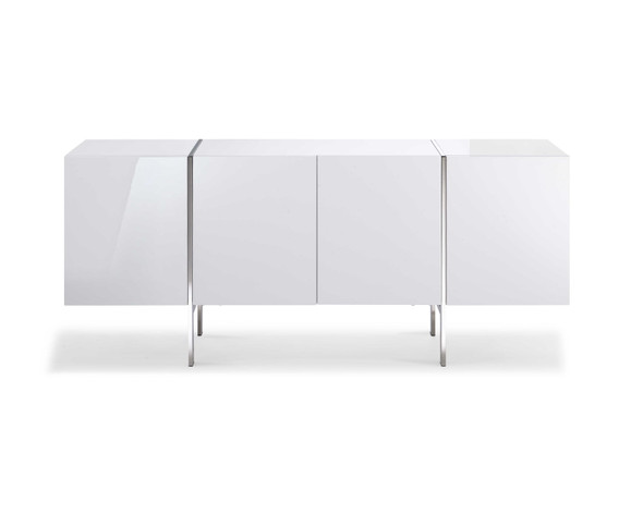 "71"" X 17"" X 30"" White Stainless Steel Buffet"