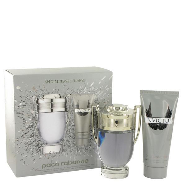 Invictus by Paco Rabanne Gift Set -- 3.4 oz Eau De Toilette Spray + 3.4 oz Shower Gel for Men