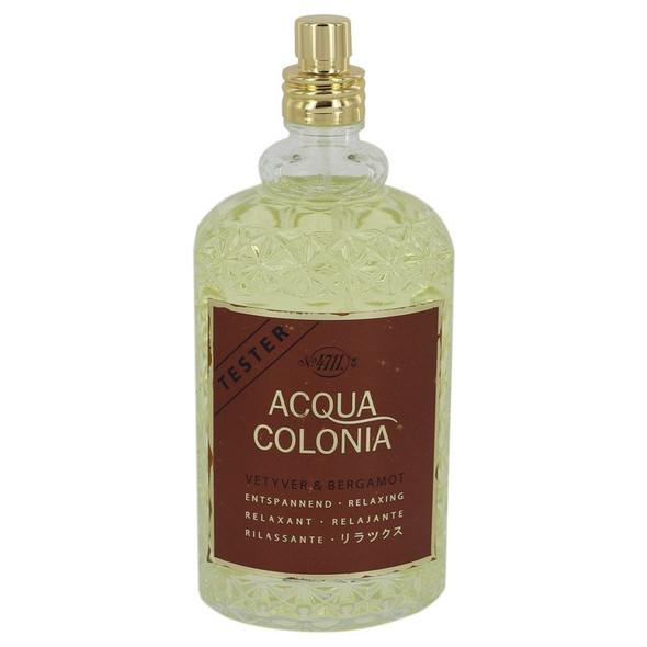 4711 Acqua Colonia Vetyver & Bergamot by Maurer & Wirtz Eau De Cologne Spray (Unisex Tester) 5.7 oz for Women