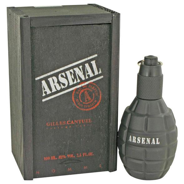 Arsenal Black by Gilles Cantuel Eau De Parfum Spray for Men