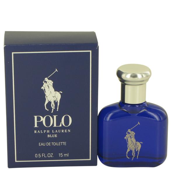Polo Blue by Ralph Lauren Eau De Toilette .5 oz for Men