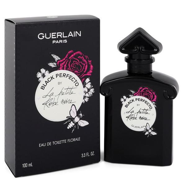 La Petite Robe Noire Black Perfecto by Guerlain Eau De Toilette Florale Spray 3.3 oz for Women