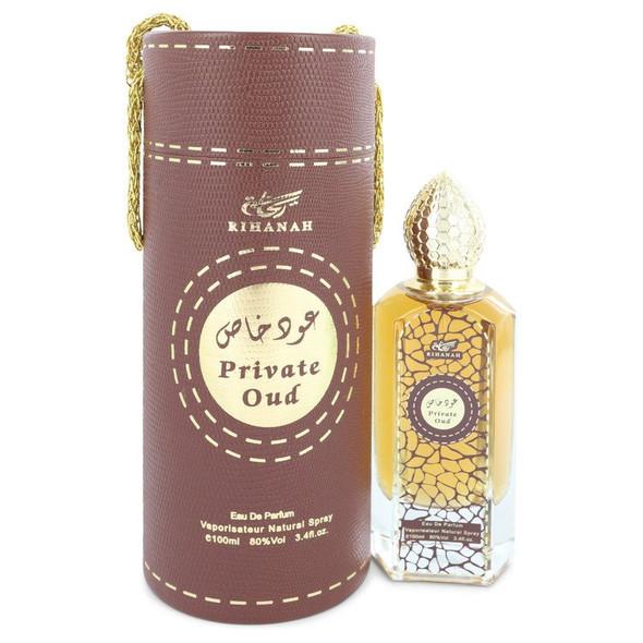 Rihanah Private Oud by Rihanah Eau De Parfum Spray (Unisex) 3.4 oz for Men