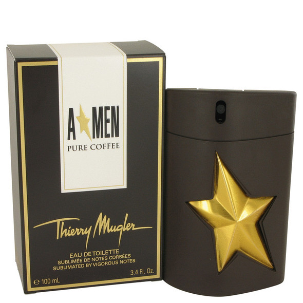 Angel Pure Coffee by Thierry Mugler Eau De Toilette Spray 3.4 oz for Men