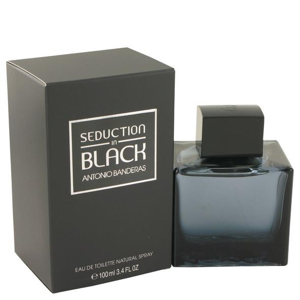 Seduction In Black by Antonio Banderas Eau De Toilette Spray for Men