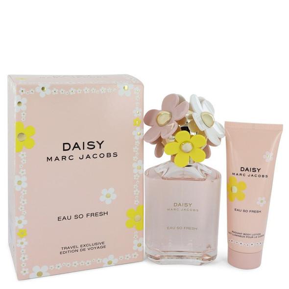 Daisy Eau So Fresh by Marc Jacobs Gift Set -- 4.2 oz Eau De Toilette Spray + 2.5 oz Body Lotion for Women