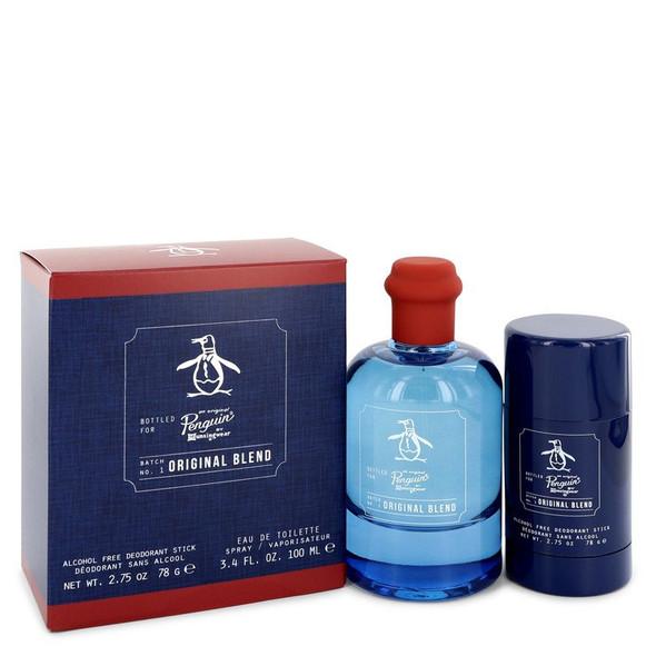 Original Penguin Original Blend by Original Penguin Gift Set -- 3.4 oz Eau De Toilette Spray + 2.75 Deodorant Stick (Alcohol Free) for Men