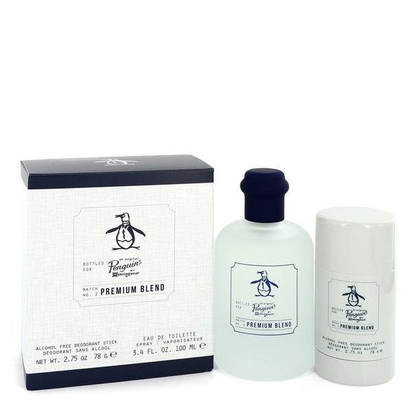 Original Penguin Premium Blend by Original Penguin Gift Set -- 3.4 oz Eau De Toilette Spray + 2.75 oz Deodorant Stick (Alcohol Free) for Men