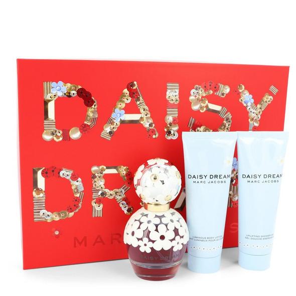 Daisy Dream by Marc Jacobs Gift Set -- 1.7 oz Eau De Toilette Spray + 2.5 oz Body Lotion +2.5 oz Shower Gel for Women